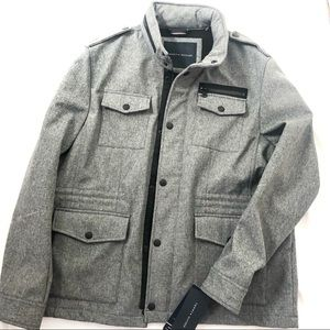 Tommy Hilfiger Heather Gray Military Jacket